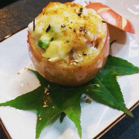 創意料理焗烤海鮮蘋果
