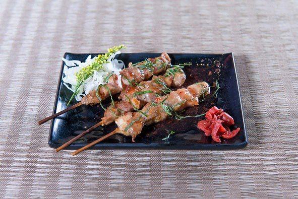 紫蘇梅雞肉串