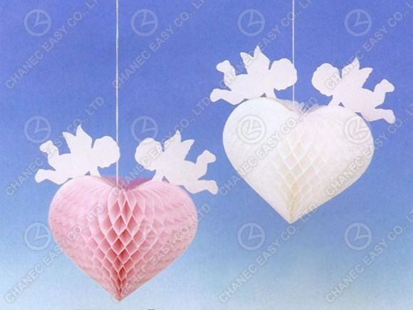 Cupid Honeycomb Decoration