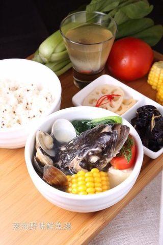 深海野味鮮魚湯