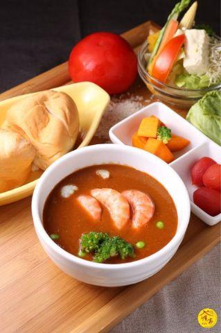 錦繡海味鮮蝦濃湯