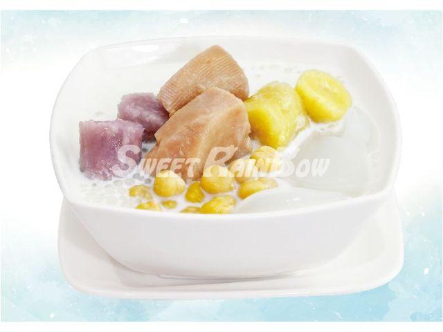 五寶芋頭西米露|仙草芋圓