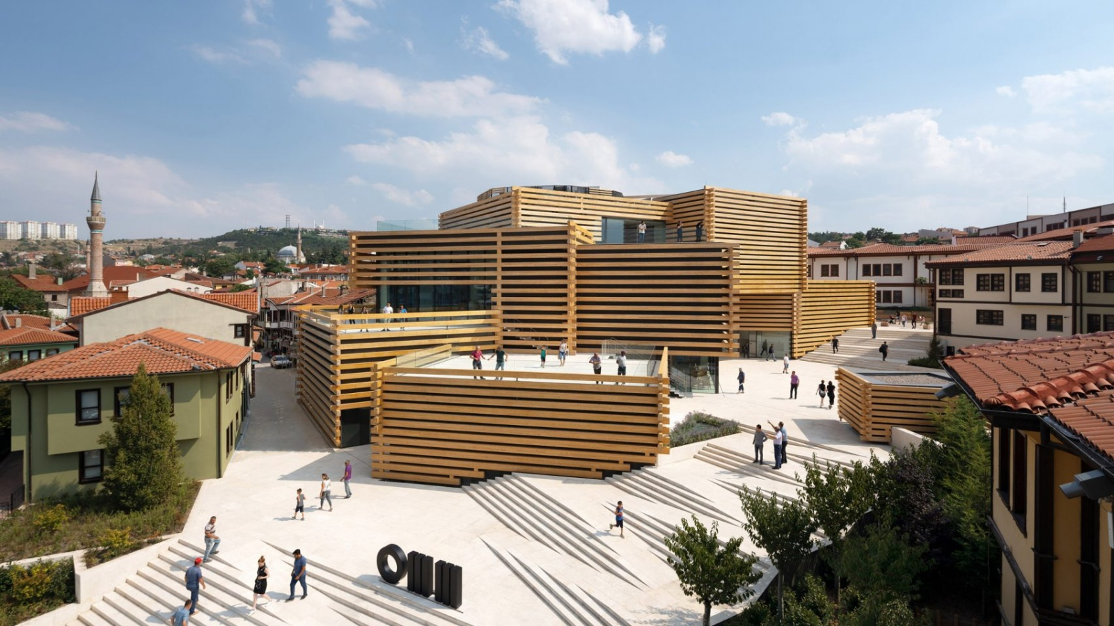 木塊堆疊的藝術堡壘 土耳其現代博物館
